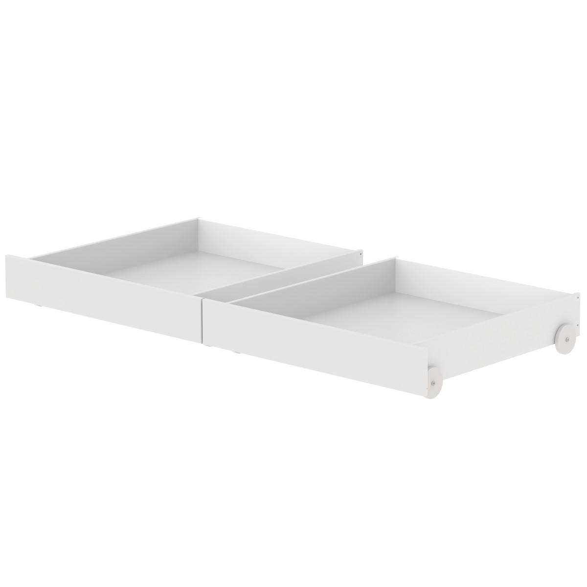 2 tiroirs lit 90x190cm WHITE Flexa blanc