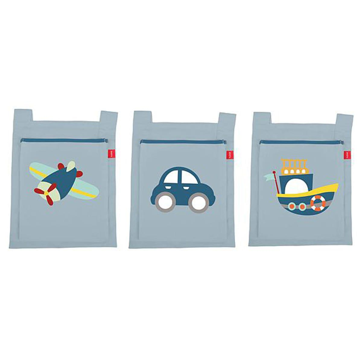 3 poches lit enfant TRANSPORT Flexa