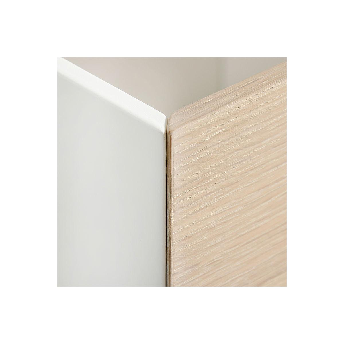 3 tioirs rangement WOOD Oliver Furniture chêne-blanc