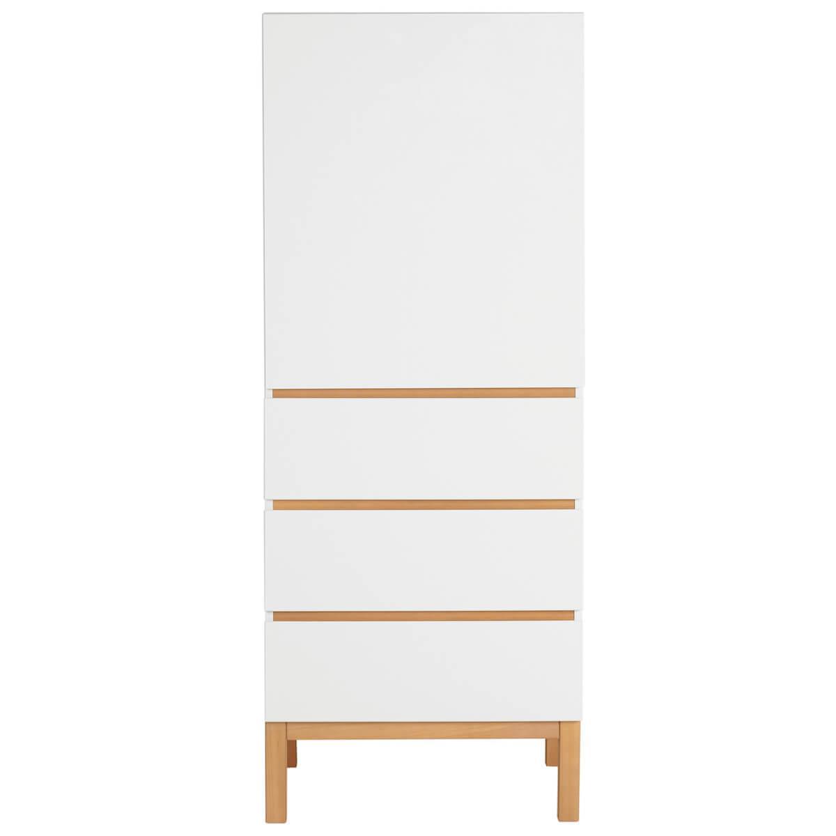 Armoire 1 porte 3 tiroirs INDIGO Quax blanc