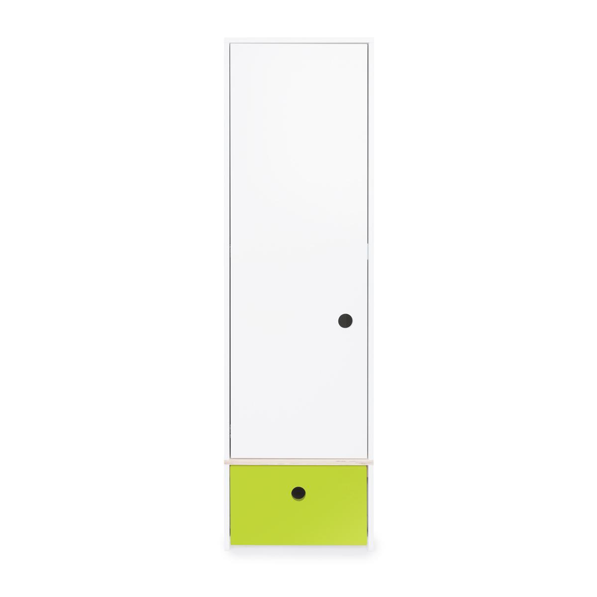 Armoire 1 porte COLORFLEX Abitare Kids façade tiroir lime