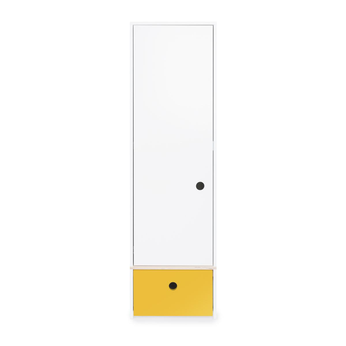 Armoire 1 porte COLORFLEX Abitare Kids façade tiroir nectar yellow