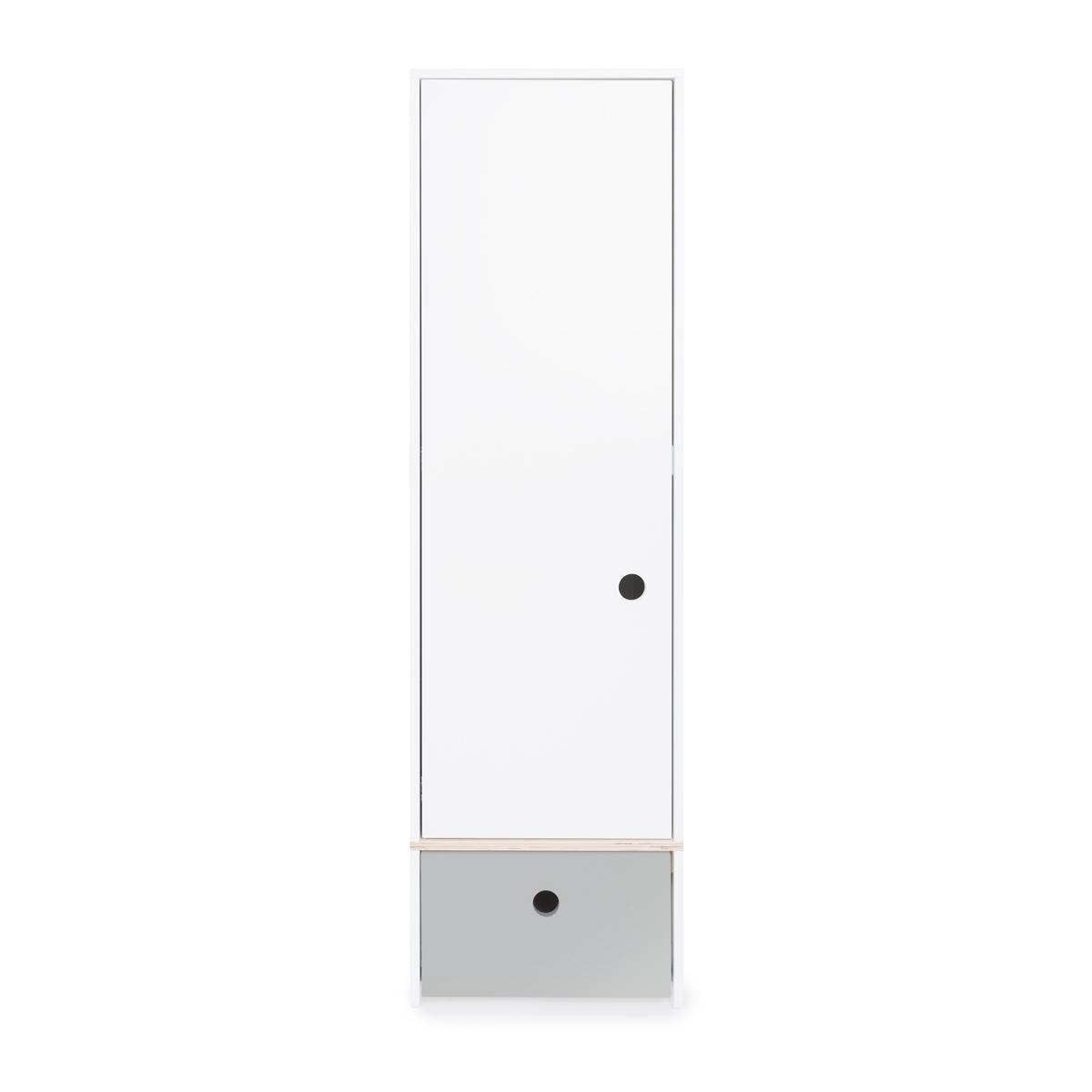 Armoire 1 porte COLORFLEX Abitare Kids façade tiroir pearl grey
