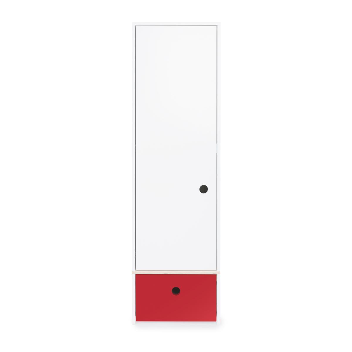 Armoire 1 porte COLORFLEX Abitare Kids façade tiroir true red