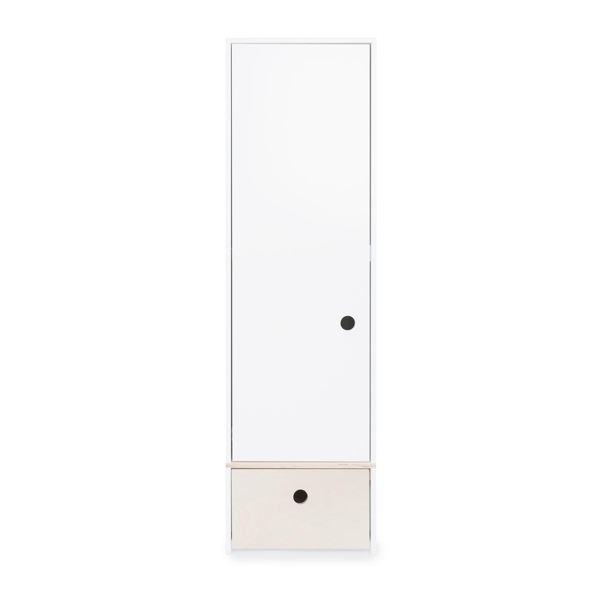 Armoire 1 porte COLORFLEX Abitare Kids façade tiroir white wash