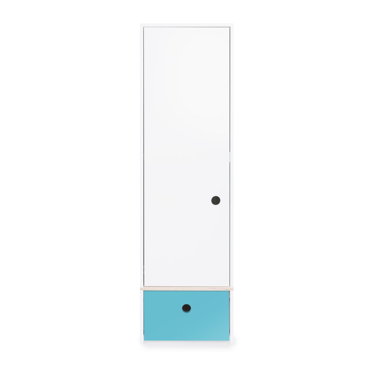 Armoire 1 porte COLORFLEX façade tiroir paradise blue