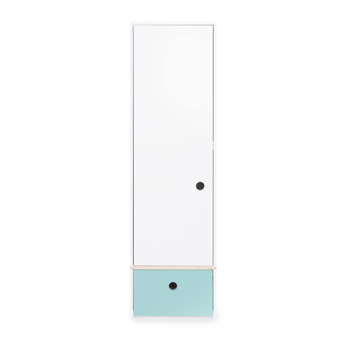 Armoire 1 porte COLORFLEX façade tiroir sky blue