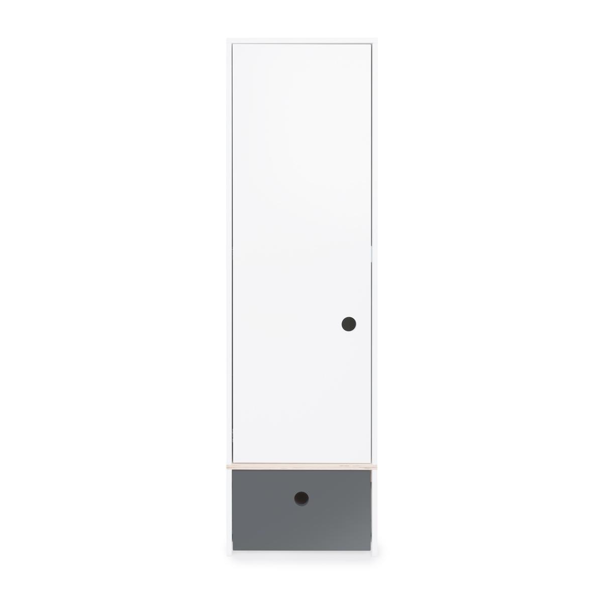 Armoire 1 porte COLORFLEX façade tiroir space grey