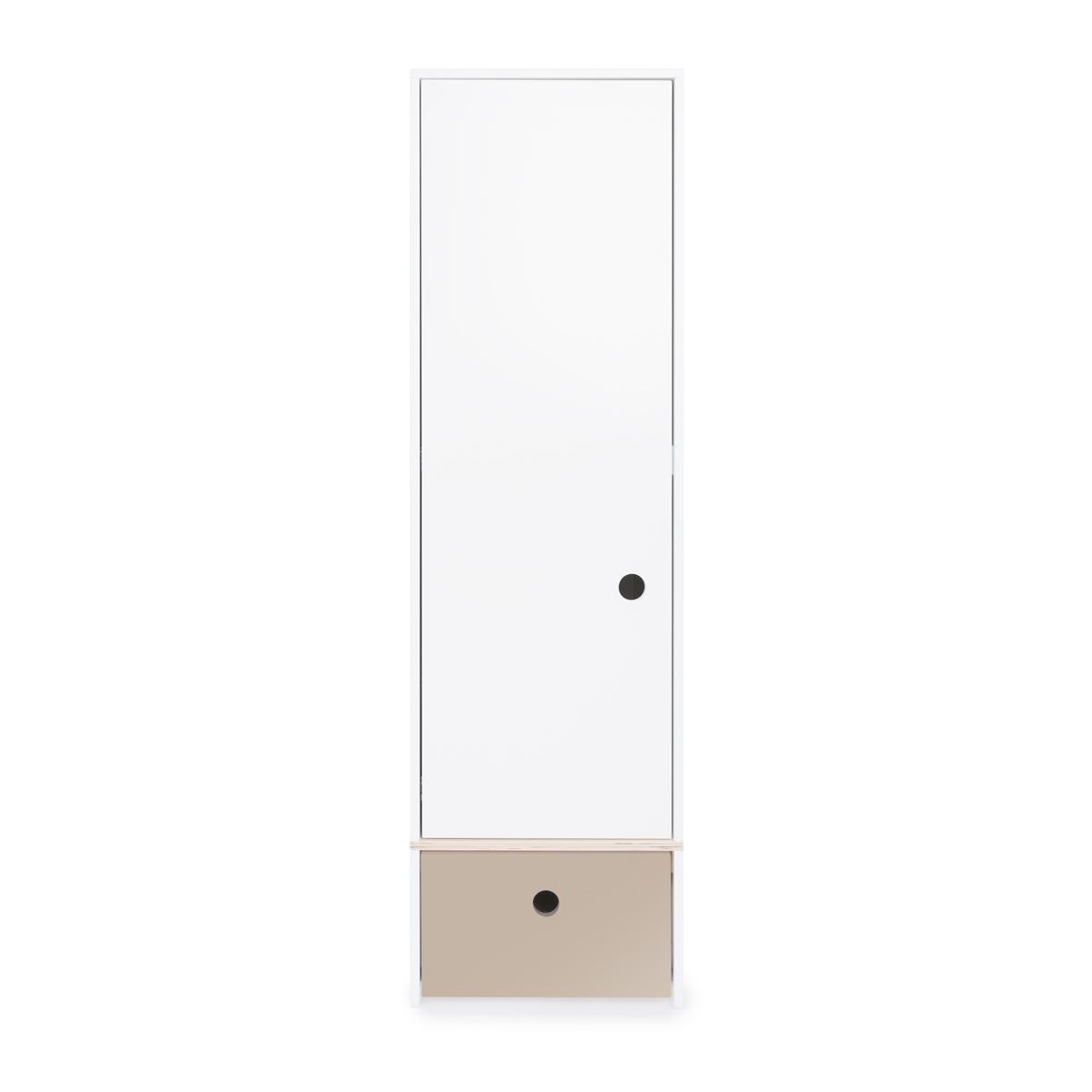 Armoire 1 porte COLORFLEX façade tiroir warm grey