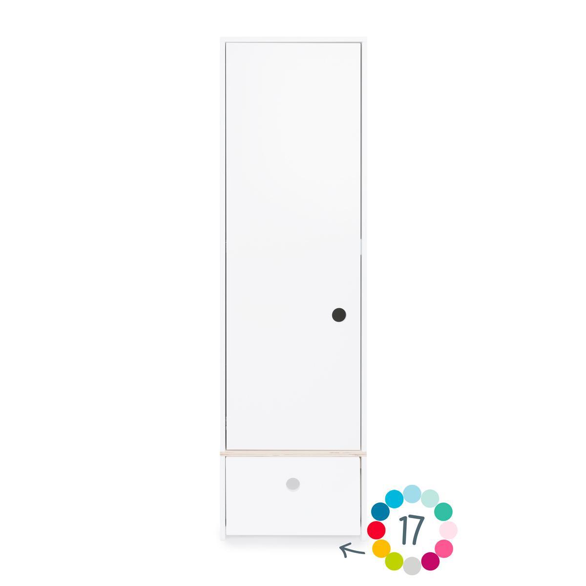 Armoire 1 porte hors façade tiroir COLORFLEX