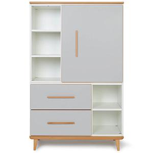 Armoire 147cm 1 porte 2 tiroirs NADO By A.K. manhattan grey