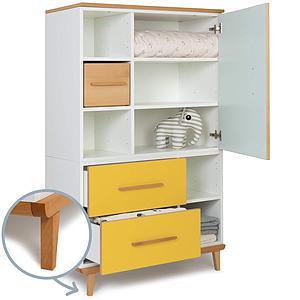 Armoire 147cm 1 porte 2 tiroirs NADO By A.K. mint-sunshine yellow