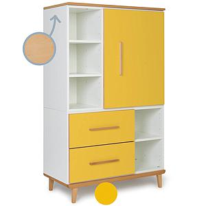 Armoire 147cm 1 porte 2 tiroirs NADO By A.K. sunshine yellow