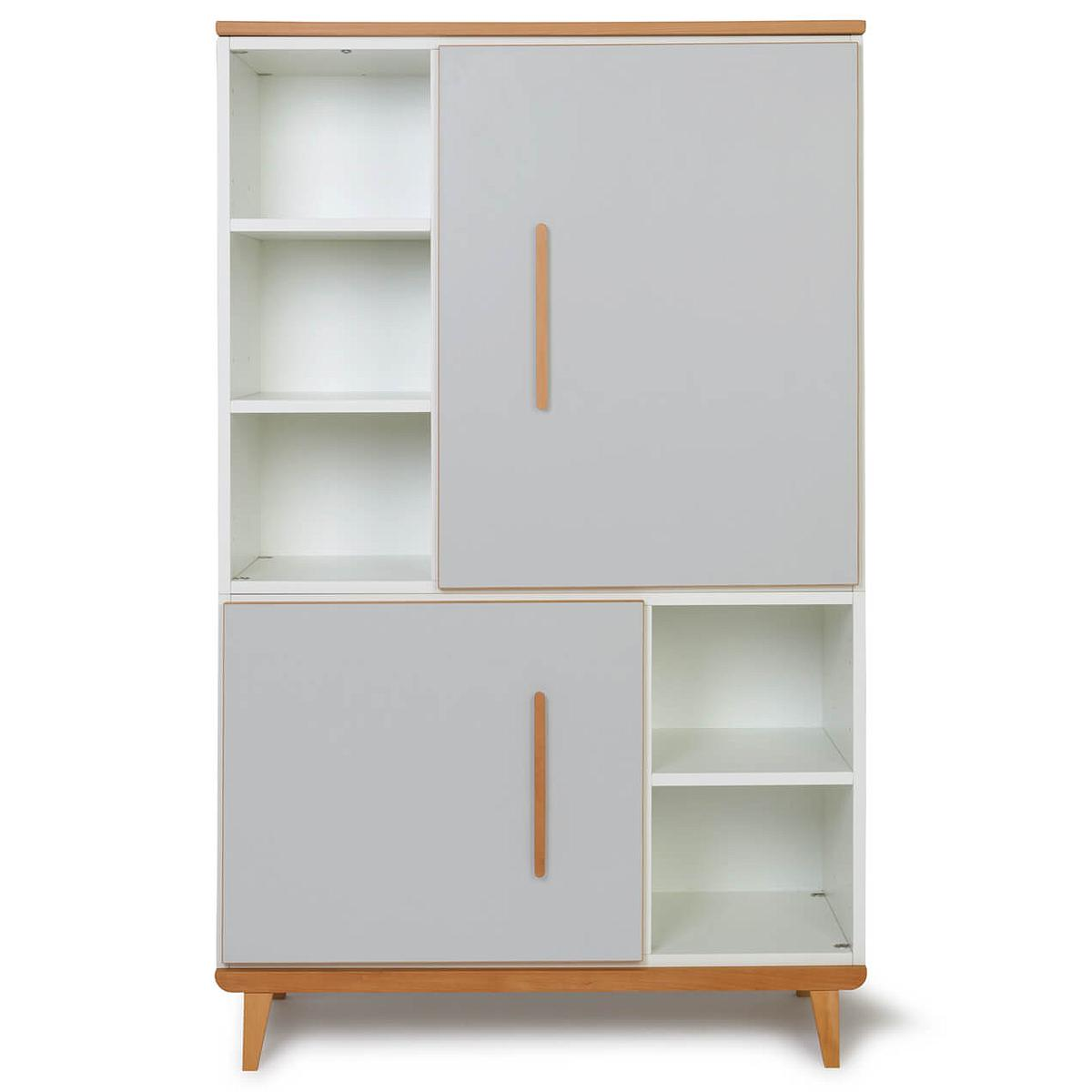 Armoire 147cm 2 portes NADO manhattan grey