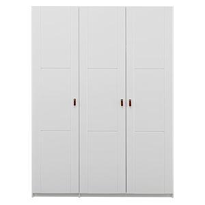 Armoire 150cm portes-étagères Lifetime blanc