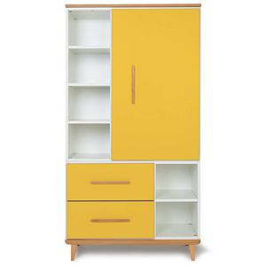 Armoire 173cm 1 porte 2 tiroirs NADO By A.K. sunshine yellow