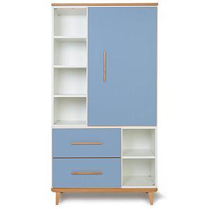 Armoire 173cm 1 porte 2 tiroirs NADO capri blue