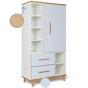 Armoire 173cm 1 porte 2 tiroirs NADO sky blue