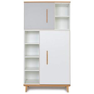 Armoire 173cm 2 portes NADO By A.K. manhattan grey-white