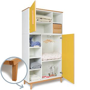 Armoire 173cm 2 portes NADO sunshine yellow