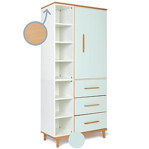 Armoire 198cm 1 porte 3 tiroirs NADO By A.K. mint