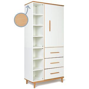 Armoire 198cm 1 porte 3 tiroirs NADO By A.K. white