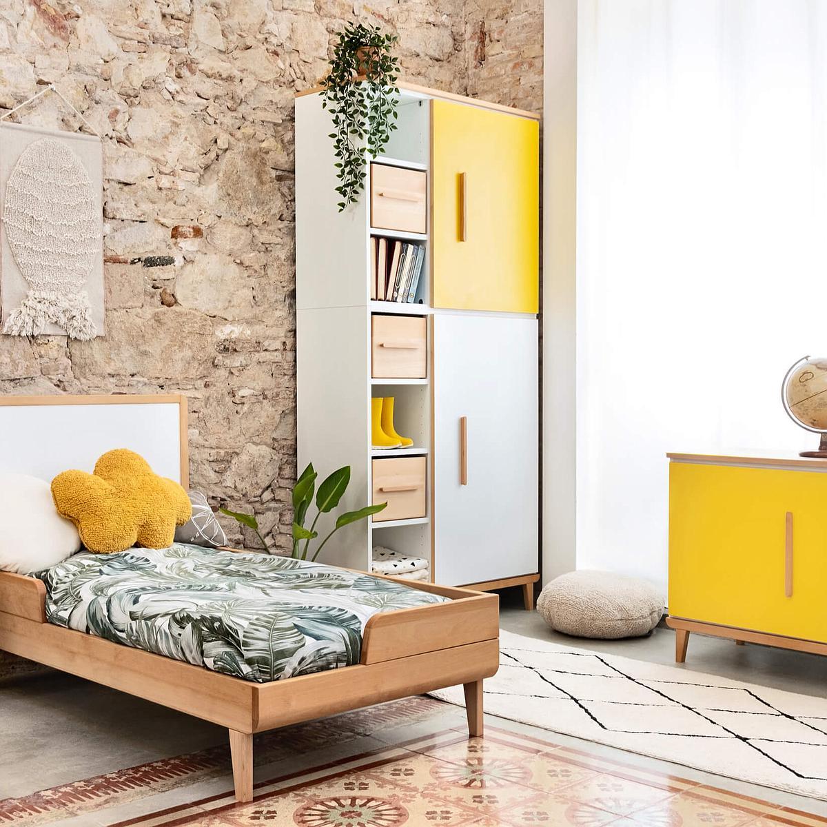Armoire 198cm 2 portes NADO By A.K. sunshine yellow