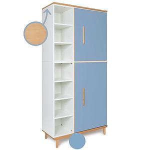 Armoire 198cm 2 portes NADO capri blue