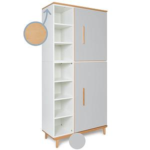 Armoire 198cm 2 portes NADO manhattan grey