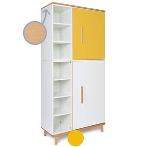 Armoire 198cm 2 portes NADO sunshine yellow-white