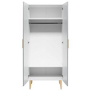 Armoire 2 porte EMMA Bopita blanc-gris