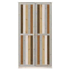 Armoire 2 portes 104x200cm Lifetime blanchi