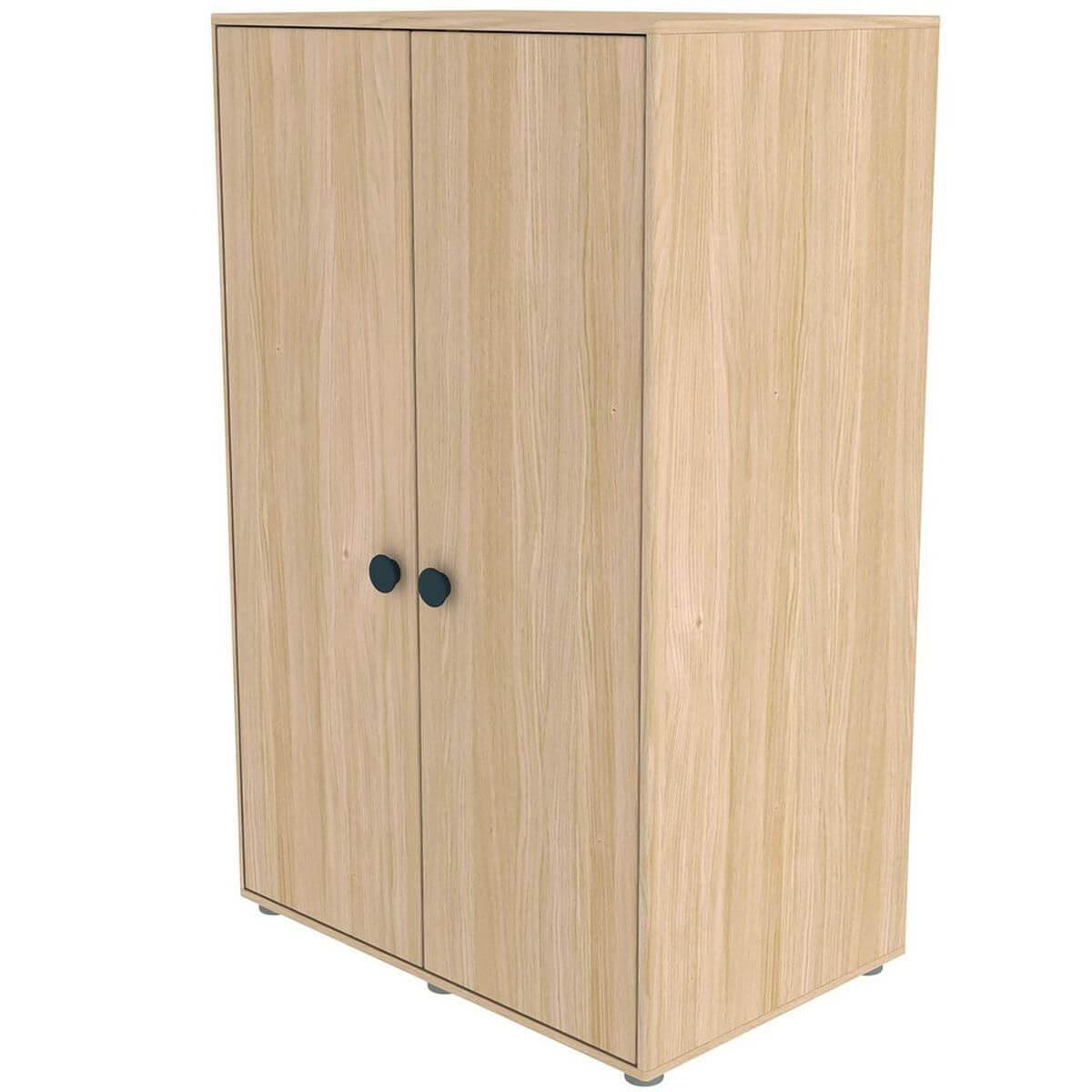 Armoire 2 portes 138cm POPSICLE Flexa chêne-blueberry