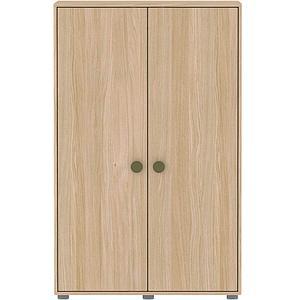 Armoire 2 portes 138cm POPSICLE Flexa chêne-kiwi