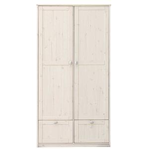 Armoire 2 portes + 2 tiroirs 104cm Lifetime blanchi