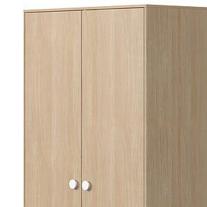 Armoire 2 portes-2 tiroirs 202cm POPSICLE Flexa chêne-blanc