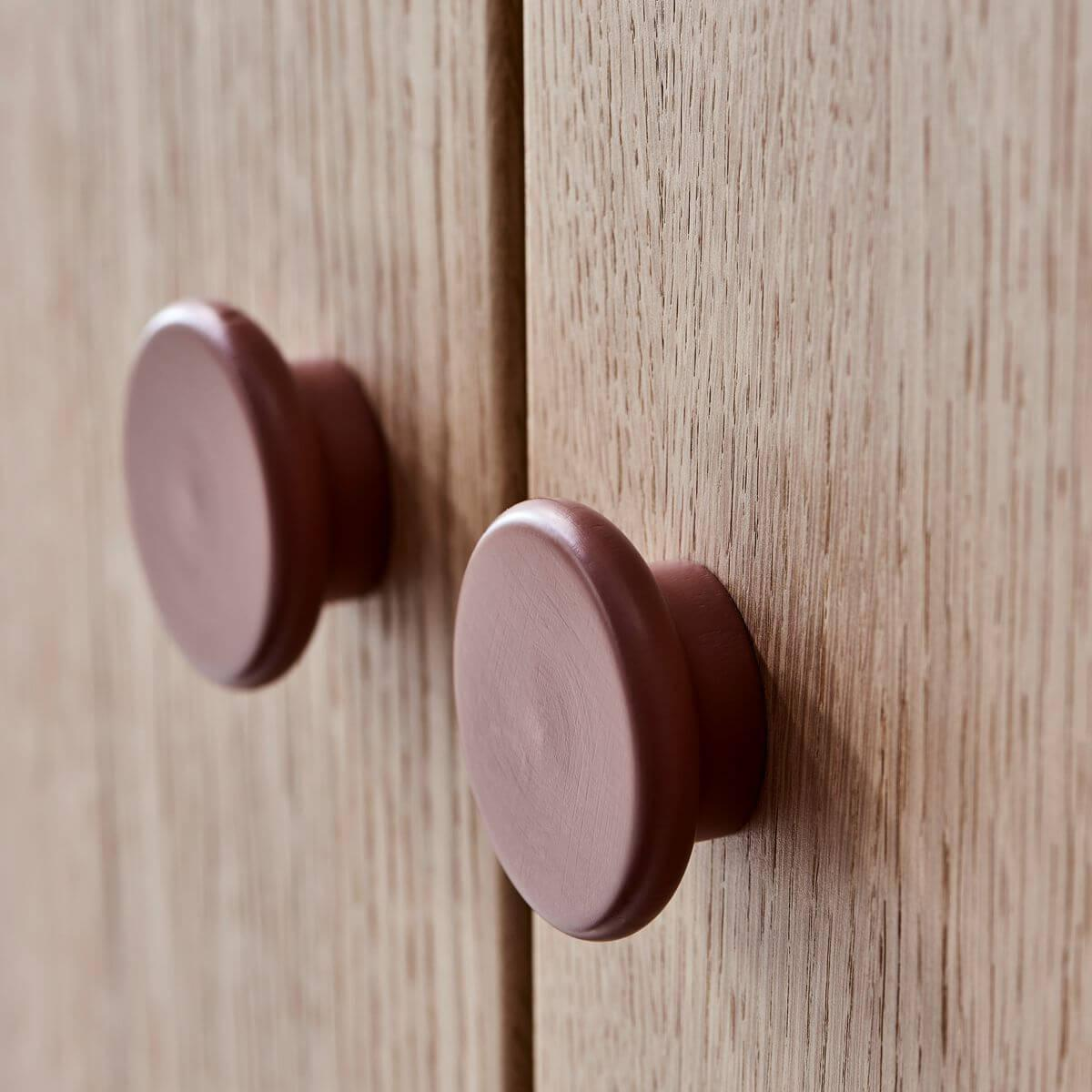 Armoire 2 portes-2 tiroirs 202cm POPSICLE Flexa chêne-cherry