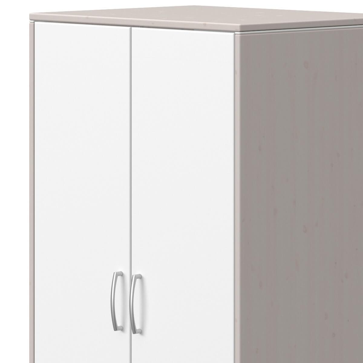 Armoire 2 portes CLASSIC Flexa blanc-grey washed