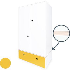 Armoire 2 portes COLORFLEX Abitare Kids façade tiroir nectar yellow