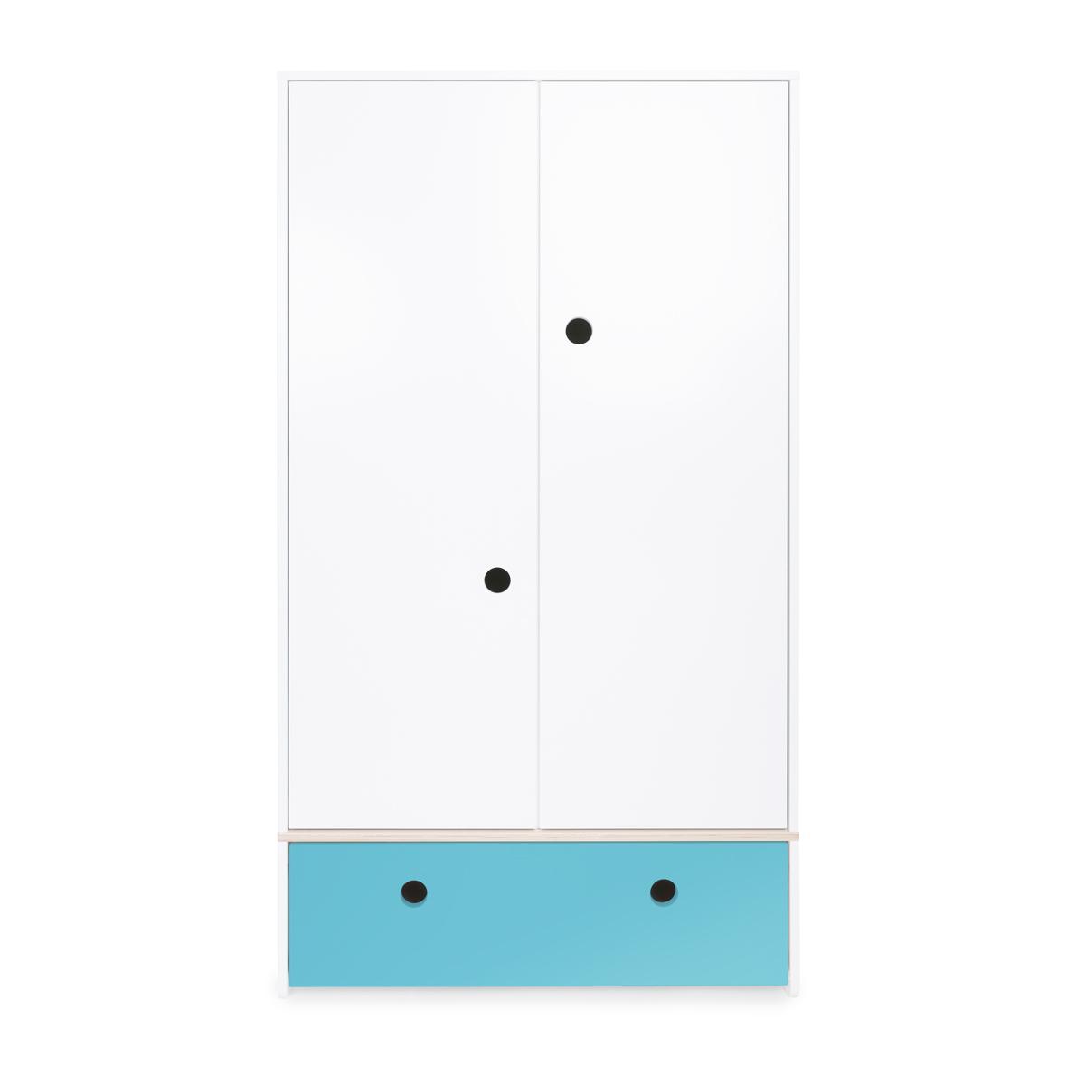 Armoire 2 portes COLORFLEX Abitare Kids façade tiroir paradise blue