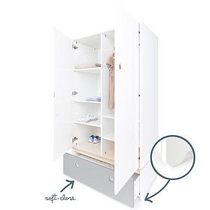 Armoire 2 portes COLORFLEX Abitare Kids façade tiroir pearl grey