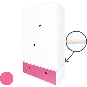 Armoire 2 portes COLORFLEX Abitare Kids façade tiroir pink