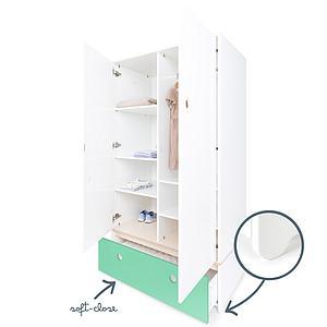 Armoire 2 portes COLORFLEX Abitare Kids façade tiroir sea foam