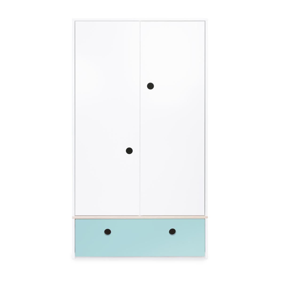 Armoire 2 portes COLORFLEX Abitare Kids façade tiroir sky blue
