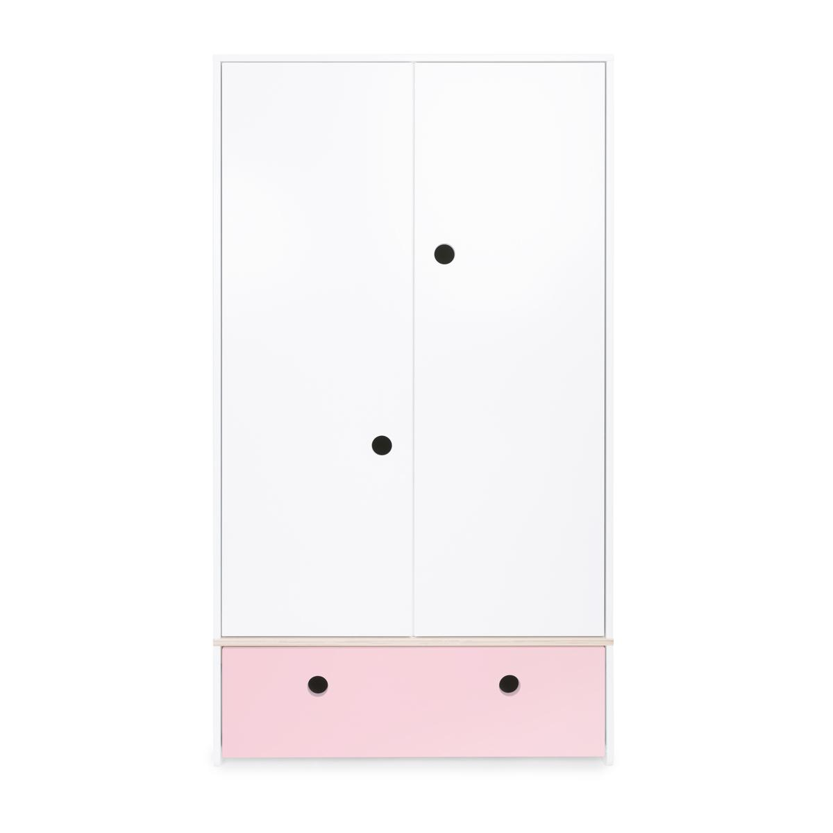 Armoire 2 portes COLORFLEX Abitare Kids façade tiroir sweet pink