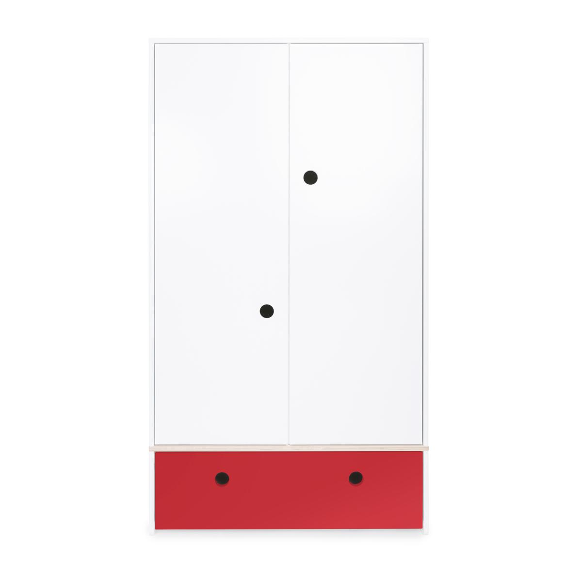 Armoire 2 portes COLORFLEX Abitare Kids façade tiroir true red