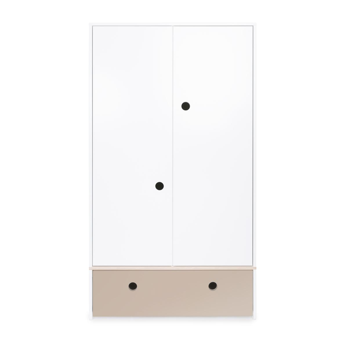 Armoire 2 portes COLORFLEX Abitare Kids façade tiroir warm grey