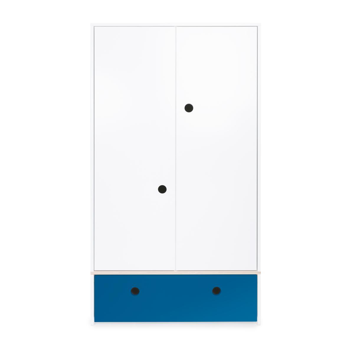 Armoire 2 portes COLORFLEX façade tiroir deep marine