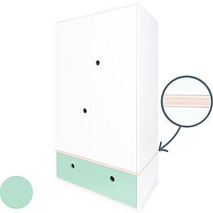 Armoire 2 portes COLORFLEX façade tiroir mint
