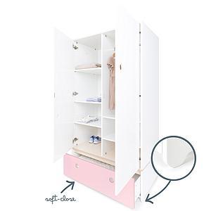 Armoire 2 portes COLORFLEX façade tiroir sweet pink